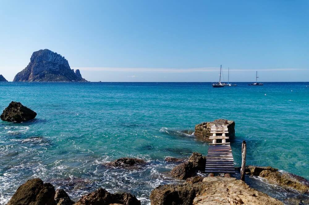 The view from Fish Shack Ibiza